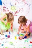 τα παιδιά χρωματίζουν Στοκ φωτογραφία με δικαίωμα ελεύθερης χρήσης