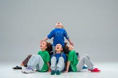 Τα παιδιά χορεύουν σχολείο, μπαλέτο, hiphop, οδός, φοβιτσιάρεις και σύγχρονοι χορευτές Στοκ φωτογραφία με δικαίωμα ελεύθερης χρήσης