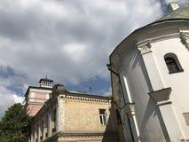 Τα παλαιά κτήρια Podil, Kyiv - ΟΥΚΡΑΝΙΑ - KYIV στοκ εικόνα