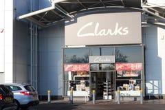 Τα παπούτσια Clarks καταχωρούν το μέτωπο. στοκ φωτογραφίες με δικαίωμα ελεύθερης χρήσης