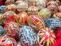 Τα παραδοσιακά ρουμάνικα τα ωραία διακοσμημένα αυγά Πάσχας Στοκ Εικόνες