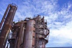 τα παλαιά εργοστάσια παραγωγής αερίου Στοκ Εικόνα