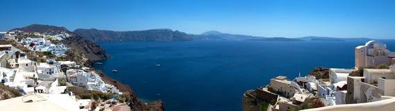 Νησί Santorini. Πανόραμα. Στοκ φωτογραφία με δικαίωμα ελεύθερης χρήσης