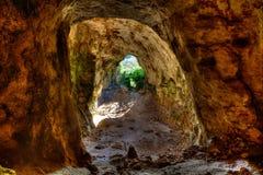 Τα περιστέρια Cova dels Coloms Menorca ανασκάπτουν μέσα τη ES Mitjorn Στοκ Εικόνα