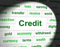 Τα πιστωτικά χρέη αντιπροσωπεύουν τη χρεωστική κάρτα και Cashless ελεύθερη απεικόνιση δικαιώματος