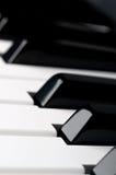 τα πλήκτρα πληκτρολογίων χάνουν το πιάνο επάνω Στοκ εικόνα με δικαίωμα ελεύθερης χρήσης