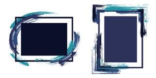 Τα πλαίσια Hipster με το χρώμα βουρτσίζουν τα κτυπήματα απεικόνιση αποθεμάτων