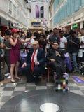 Τα πλαστά Η.Ε ατού και της Kim Jong στη μέση της Συνόδου Κορυφής της Σιγκαπούρης Στοκ φωτογραφία με δικαίωμα ελεύθερης χρήσης