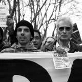 τα πορτογαλικά διαμαρτύρ& Στοκ εικόνες με δικαίωμα ελεύθερης χρήσης