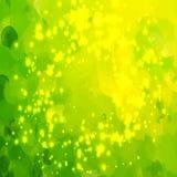 Τα πράσινα αστέρια βουρτσίζουν το υπόβαθρο κτυπημάτων Στοκ εικόνα με δικαίωμα ελεύθερης χρήσης