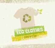Τα πράσινα ενδύματα Eco ανακυκλώνουν τη διανυσματική έννοια στο οργανικό υπόβαθρο εγγράφου Στοκ Εικόνες
