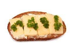 τα πράσινα τυριών ψωμιού στρ& Στοκ φωτογραφίες με δικαίωμα ελεύθερης χρήσης