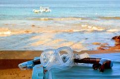 Τα προστατευτικά δίοπτρα κατάδυσης και κολυμπούν με αναπνευτήρα Στοκ εικόνα με δικαίωμα ελεύθερης χρήσης