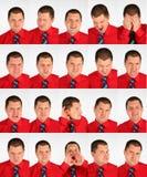 τα πρόσωπα επιχειρηματιών μορφάζουν πολλά Στοκ εικόνα με δικαίωμα ελεύθερης χρήσης