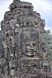 Τα πρόσωπα του αρχαίου ναού Bayon σε Siem συγκεντρώνουν Στοκ φωτογραφία με δικαίωμα ελεύθερης χρήσης