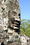 Τα πρόσωπα Angkor Thom, που βρίσκονται στην παρούσα Καμπότζη Στοκ Φωτογραφία