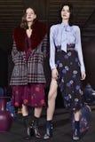 Τα πρότυπα θέτουν κατά τη διάρκεια της παρουσίασης της Tanya Taylor στην εβδομάδα μόδας της Νέας Υόρκης Στοκ Εικόνες
