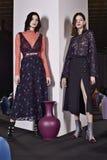 Τα πρότυπα θέτουν κατά τη διάρκεια της παρουσίασης της Tanya Taylor στην εβδομάδα μόδας της Νέας Υόρκης Στοκ εικόνα με δικαίωμα ελεύθερης χρήσης