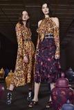 Τα πρότυπα θέτουν κατά τη διάρκεια της παρουσίασης της Tanya Taylor στην εβδομάδα μόδας της Νέας Υόρκης Στοκ φωτογραφία με δικαίωμα ελεύθερης χρήσης