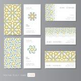 Τα πρότυπα καθορισμένα την κάρτα επίσκεψης Στοκ Φωτογραφίες
