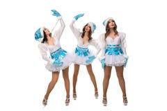 Τα πρότυπα στα εύθυμα φορέματα για το χειμώνα παρουσιάζουν στοκ εικόνες με δικαίωμα ελεύθερης χρήσης