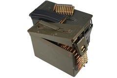 Τα πυρομαχικά μπορούν με τη ζώνη πυρομαχικών και πυρομαχικών στοκ φωτογραφία με δικαίωμα ελεύθερης χρήσης