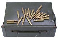 Τα πυρομαχικά μπορούν με τα πυρομαχικά στοκ φωτογραφία