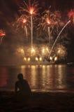 Τα πυροτεχνήματα παρουσιάζουν Στοκ Φωτογραφίες