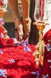 Τα πόδια του γλυπτού Χριστός της αδελφοσύνης Στοκ Εικόνες