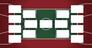 Τα πλέι-οφ ΝΒΑ σχεδιάζουν - υποστηρίγματα ΝΒΑ - το σχέδιο τελικών καλαθοσφαίρισης - κόκκινα και πράσινα χρώματα Στοκ Φωτογραφία