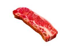 Τα πλευρά ύφους μπριζόλας Kalbi/Flanken βόειου κρέατος βρίσκονται σε ένα άσπρο υπόβαθρο Στοκ φωτογραφία με δικαίωμα ελεύθερης χρήσης