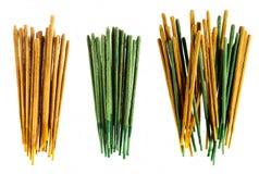 Τα ραβδιά κινέζικων ειδώλων aromatherapy και οι αφαιρεσμένες τον πυρήνα ομάδες ραβδιών Στοκ Φωτογραφία