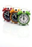τα ρολόγια συναγερμών απ&eps Στοκ Εικόνες