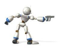 Τα ρομπότ παίρνουν το στόχο Στοκ φωτογραφία με δικαίωμα ελεύθερης χρήσης