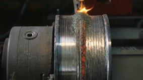 Τα ρομπότ συγκόλλησης εφαρμόζουν την προστασία συγκόλλησης επικαλύψεων σε δίσκους σωλήνων Αυτόματη συγκόλληση του σωλήνας-κυλίσμα φιλμ μικρού μήκους