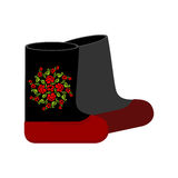 Τα ρωσικά αισθάνθηκαν τις μπότες Παραδοσιακά χειμερινά θερμά παπούτσια στη Ρωσία Στοκ εικόνες με δικαίωμα ελεύθερης χρήσης