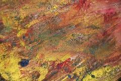 Τα ρόδινα κόκκινα πορφυρά χρυσά σημεία, χρώματα, μαλακή δομή watercolor χρωμάτων, αφαιρούν το ζωηρό υπόβαθρο Στοκ Φωτογραφίες