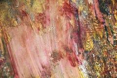Τα ρόδινα κόκκινα πορφυρά χρυσά χρώματα, μαλακή δομή watercolor χρωμάτων, αφαιρούν το ζωηρό υπόβαθρο Στοκ φωτογραφία με δικαίωμα ελεύθερης χρήσης