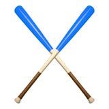 τα ρόπαλα του μπέιζμπολ απομόνωσαν το λευκό Στοκ Φωτογραφία