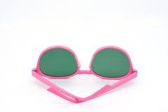 Τα ρόδινα γυαλιά ηλίου απομονώνουν το άσπρο υπόβαθρο Στοκ Εικόνες