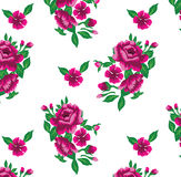 Τα ρόδινα τριαντάφυλλα σε ένα άσπρο υπόβαθρο στοκ φωτογραφίες με δικαίωμα ελεύθερης χρήσης