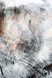 Τα σημάδια γρατσουνιών ασπρίζουν επάνω το γυαλί Στοκ εικόνα με δικαίωμα ελεύθερης χρήσης