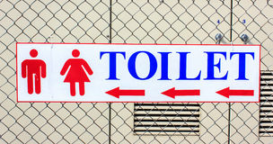 Τα σημάδια πηγαίνουν σε toilet2 Στοκ Εικόνα