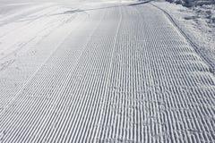Τα σημάδια να κάνει σκι snowcat Στοκ φωτογραφίες με δικαίωμα ελεύθερης χρήσης