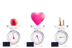 Τα σημαντικότερα πράγματα στη ζωή: υγεία, αγάπη και χρήματα Healt Στοκ Εικόνες