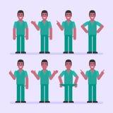 Τα σημεία ατόμων νοσοκόμων και παρουσιάζουν Χαρακτήρας - σύνολο απεικόνιση αποθεμάτων