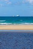 Τα σκάφη στον ορίζοντα Στοκ Εικόνα