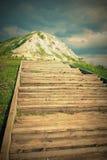 Τα σκαλοπάτια επάνω ο λόφος Στοκ εικόνες με δικαίωμα ελεύθερης χρήσης