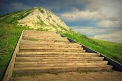 Τα σκαλοπάτια επάνω ο λόφος Στοκ Εικόνες