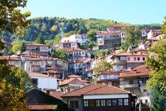 Τα σπίτια στο ελληνικό χωριό του Μετσόβου Στοκ εικόνες με δικαίωμα ελεύθερης χρήσης